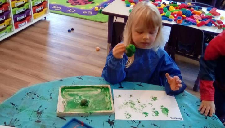 We loved doing some vegetable printing