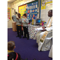 Year 2 Prayer Service with Father Justus