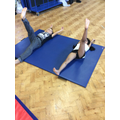 We are practising a front straddle