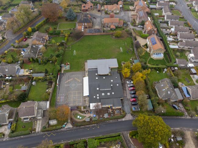 Aerial view of our fantastic grounds