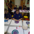 A Rangoli workshop to start our Hinduism topic