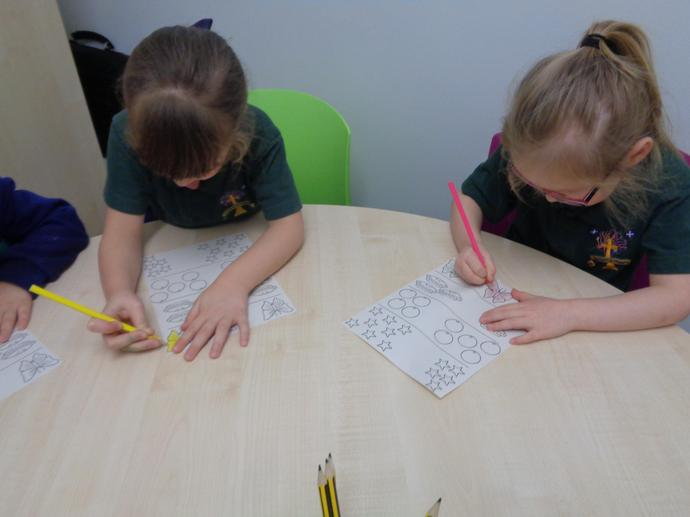 We are working really hard in maths.