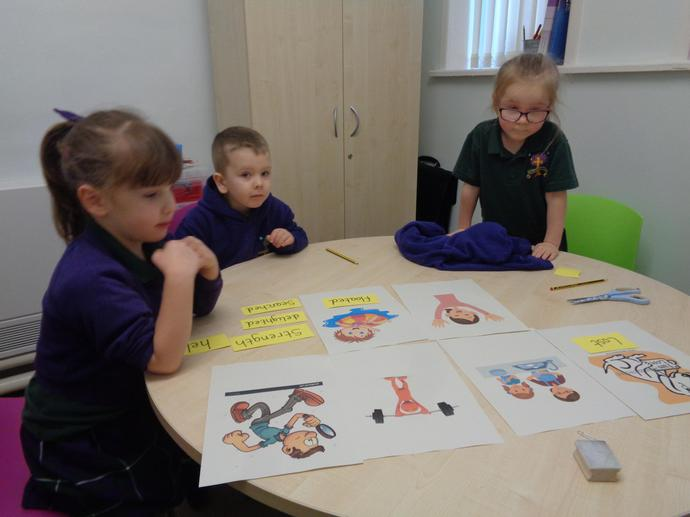 Today we had a look at our key vocabulary for our class book.
