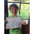 William with his certificate