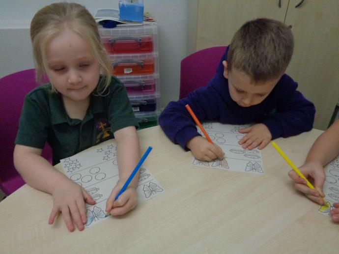We had lots of fun using different colours.