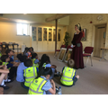 Lady Willoughby leading the drama workshop