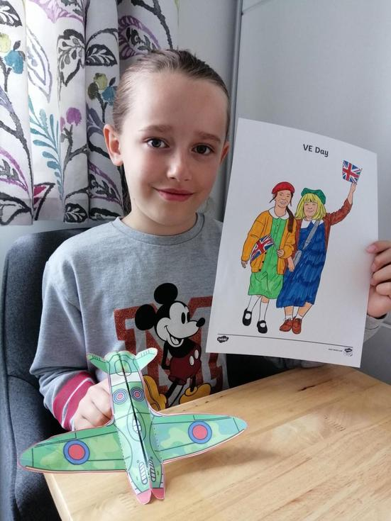 Emily begins her VE Day learning