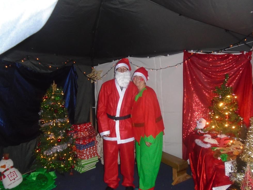 Santa's Grotto at the Christmas Fair