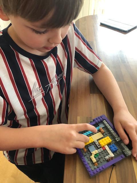 George made a Lego circuit board