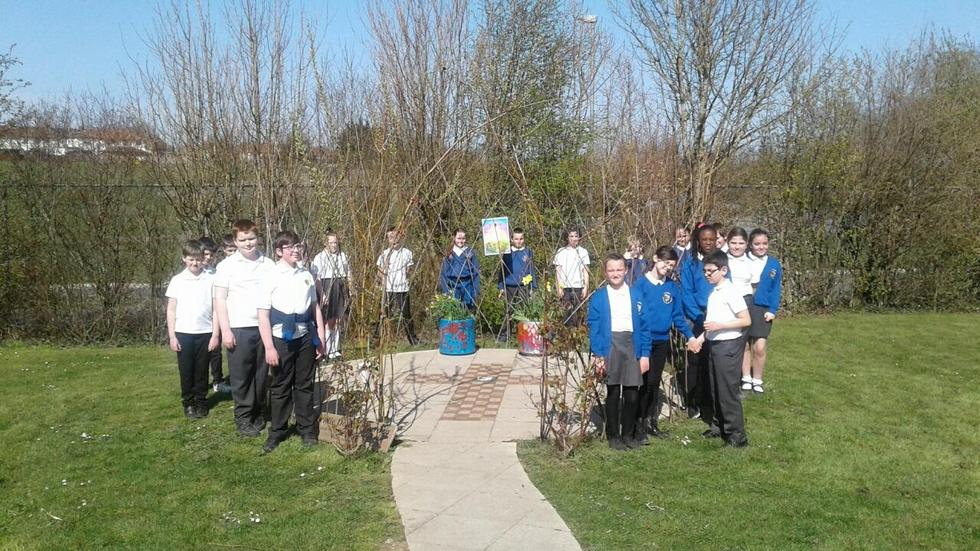Easter service in the sun