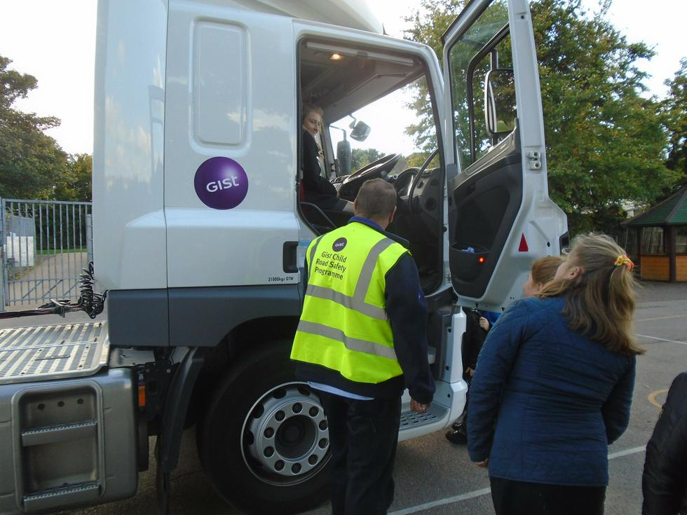 We were able to sit in the lorry.