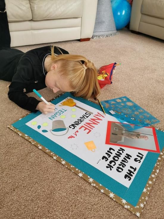 Being creative making a Poster