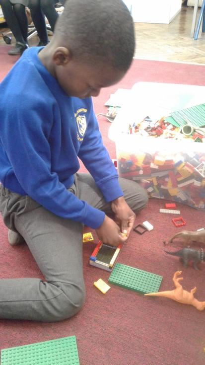 The children were encouraged to make or build something.