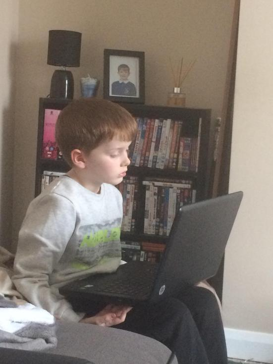Reading time on the laptop