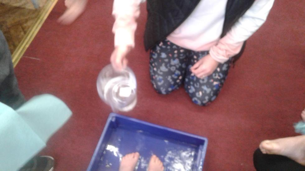 Washing of the feet