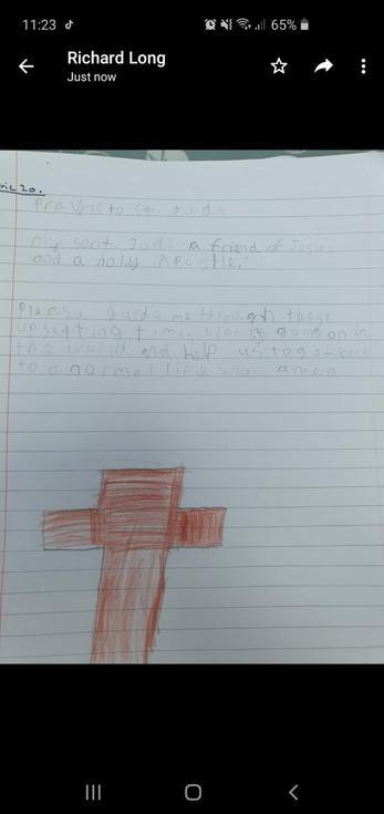 Liam's prayer to St. Jude