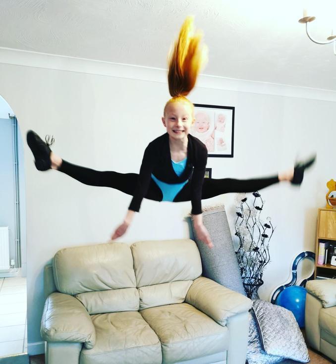 Tegan is flying high