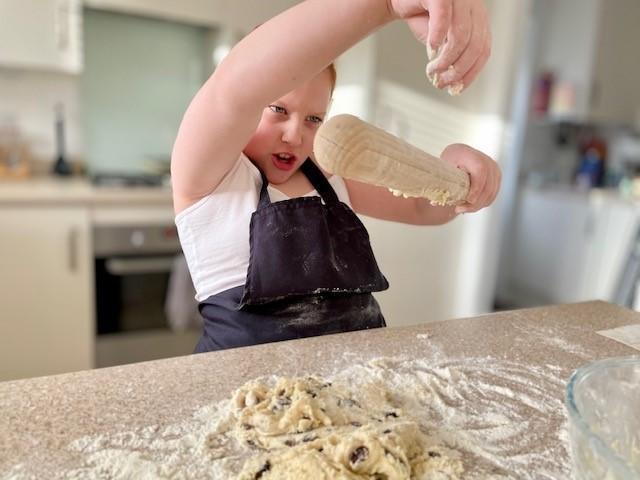Having fun baking