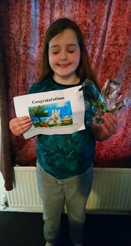 Jenna won a prize too