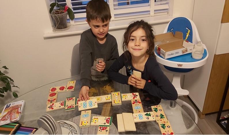 Domino fun for Marc and Iris