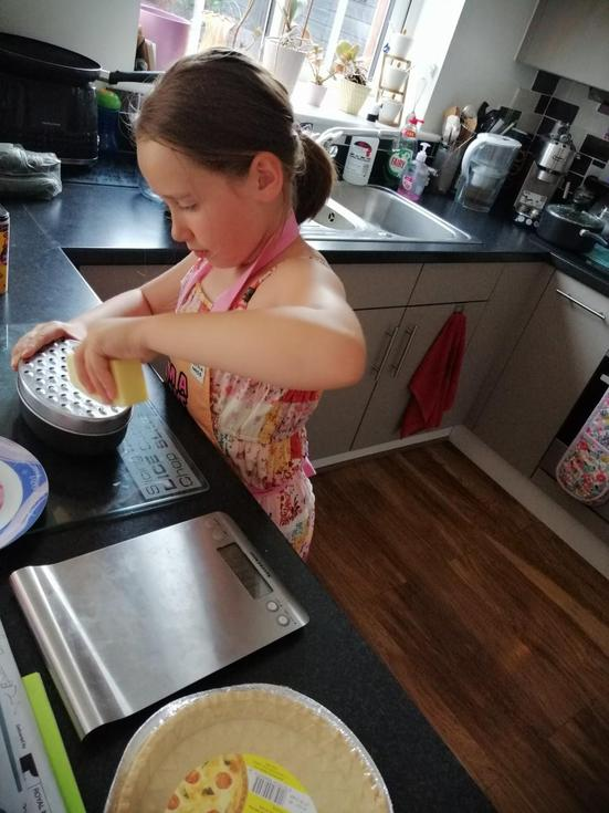 Emily is busy baking