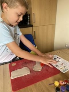 Jacob making pastry