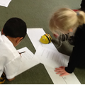 Programming beebots with multiple instructions.