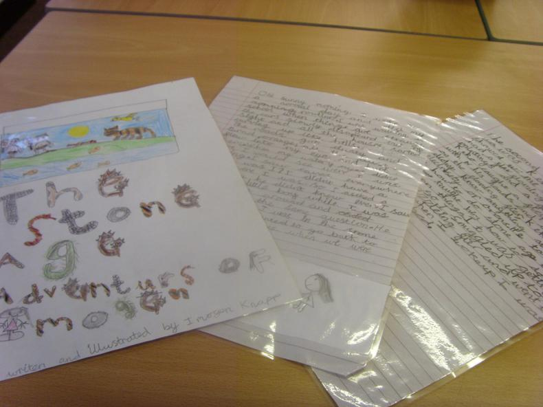 Imogen wrote a story.