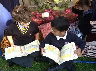 In our reading den