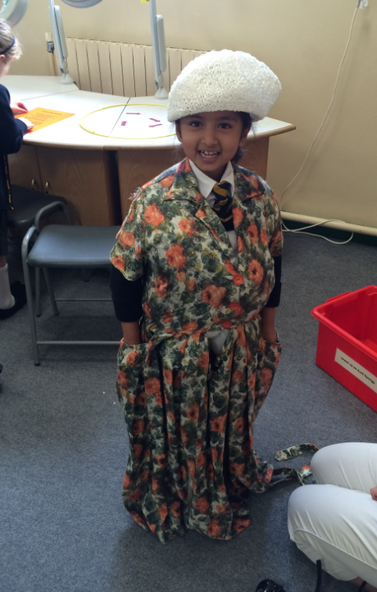 Safa dressed as Aunt Spiker.