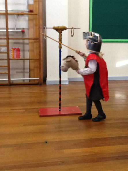At the jousting contest