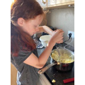 Layna cooking