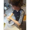Jospe making salt dough