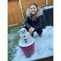 Ella's potted snowman