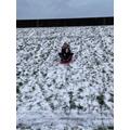 Ella sledging