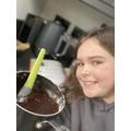 Amelia brownie making