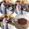 Mason and chocolate cake - yum!