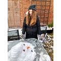Ale and her snowman