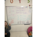 Megan's maths work in her home classroom