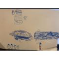 English - Blue crayon