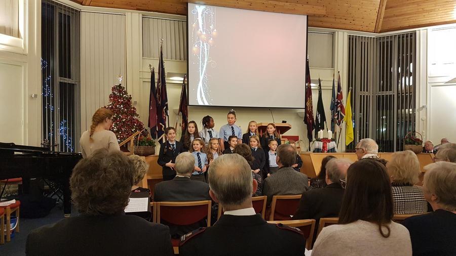 Choir singing at the Mayor's Christmas Concert