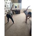 The Stibbs sisters doing Joe Wicks