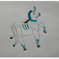 Theo's prancing frost unicorn