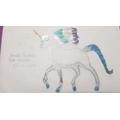 Amelia B's beautiful frost unicorn