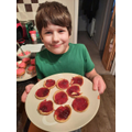 Ethan's jam tarts for DnT