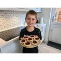 Andrew's delicious looking jam tart DnT work