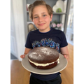 Tom's finished chocolate sponge