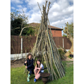 Alissia and Sienna's wigwam