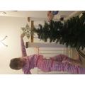 Christmas decorating.