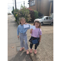 Amelia and her sister out posting letters